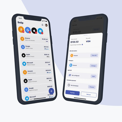 Sniip - A Fun, Intuitive and Trust-Evoking Bill Payment App