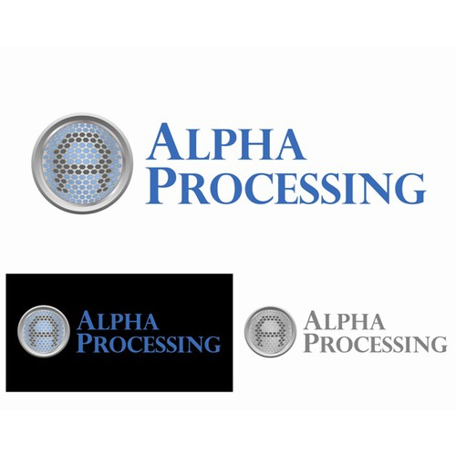 Alpha Processing Logo Design