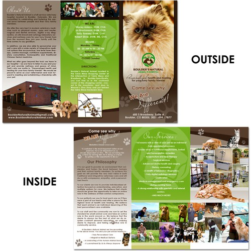 Help us re-brand Boulder's Natural Animal Hospital with a NEW BROCHURE!!