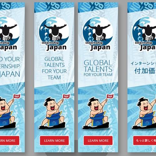 Banner ads design for Internship in Japan