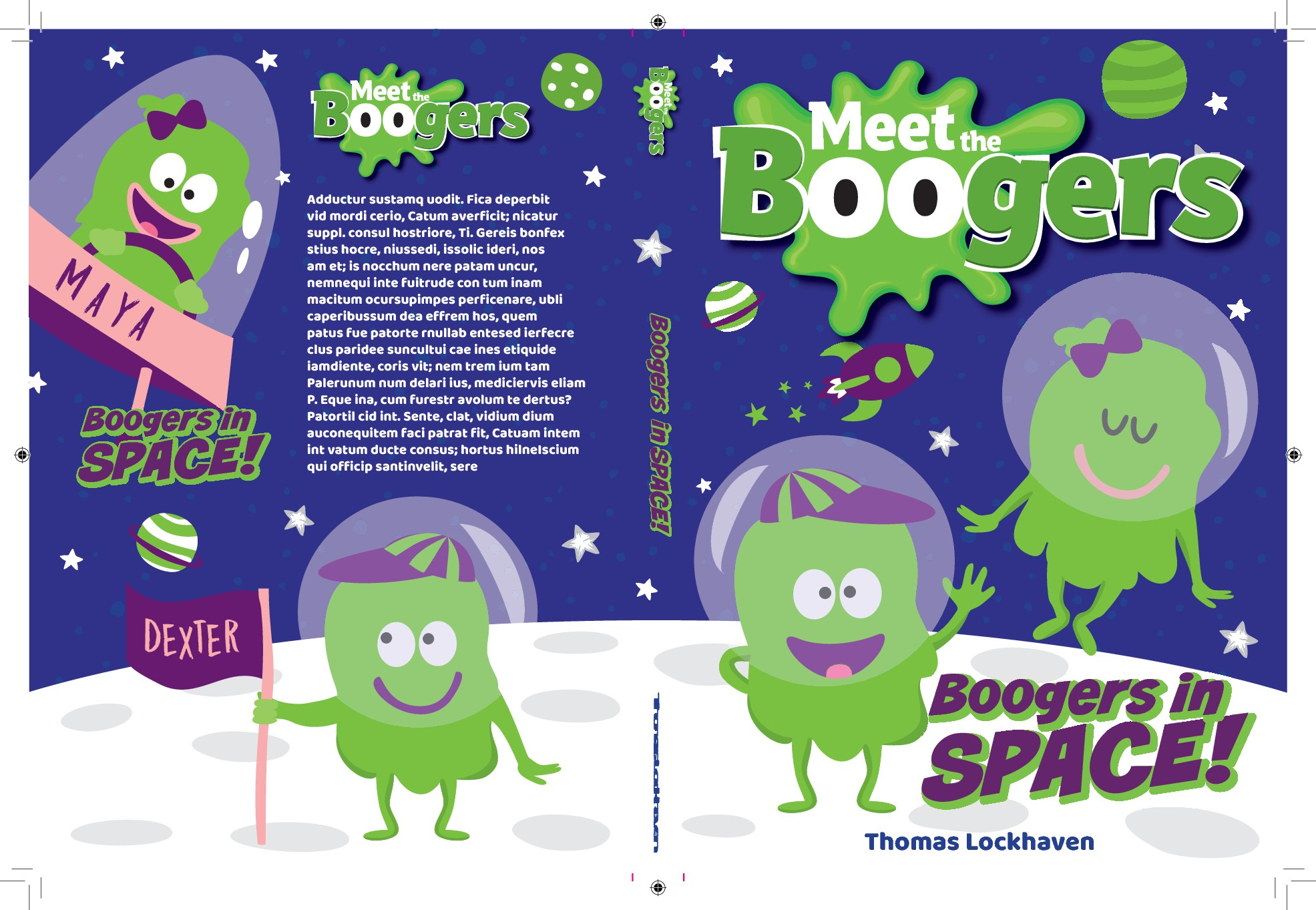 Meet the Boogers - Cover Design