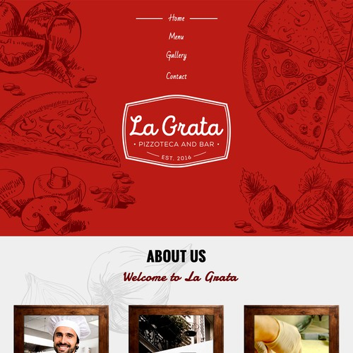 Cool new Pizzoteca in NYC needs a website - La Grata
