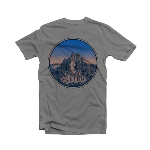 The Trek ( Popular outdoor website needs stylish t-shirt design )