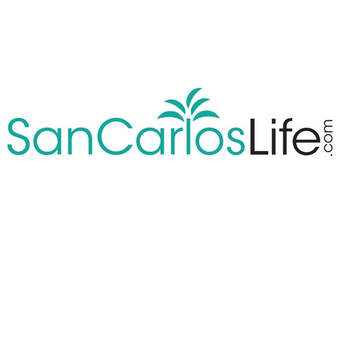 Create a chic and modern palm tree design for San Carlos Life logo