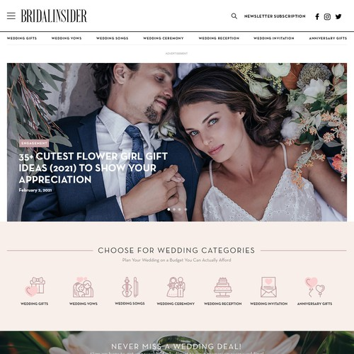 WordPress Theme for Wedding, Gift