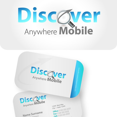 New logo and business card wanted for Discover Anywhere Mobile