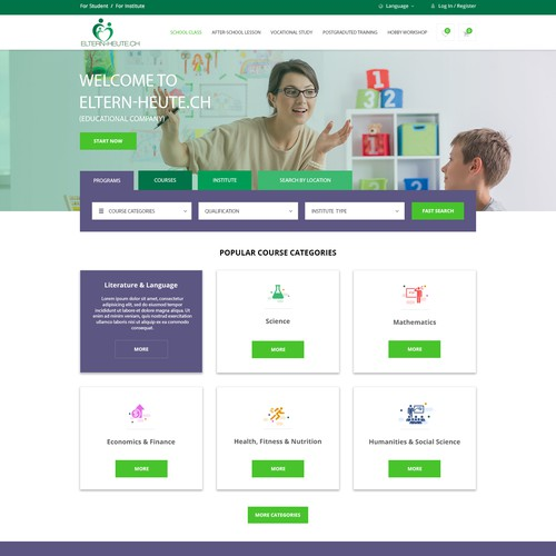 Educational Courses Site