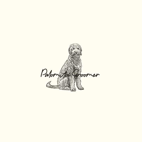 Palomita Groomer logo concept