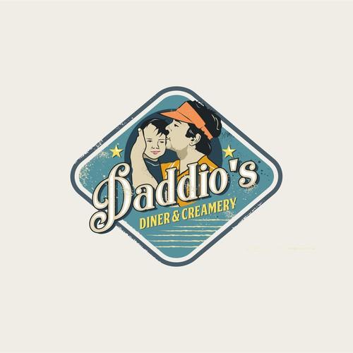 retro logo style for daddio's