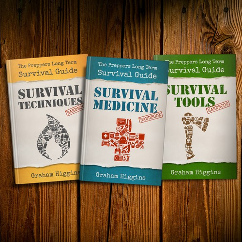 Book Cover Template for Prepper Series of Books
