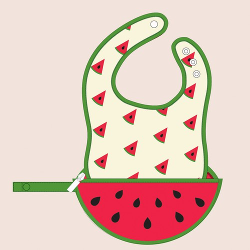 Bib design for Baby products website