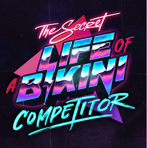 Retro 80's typography