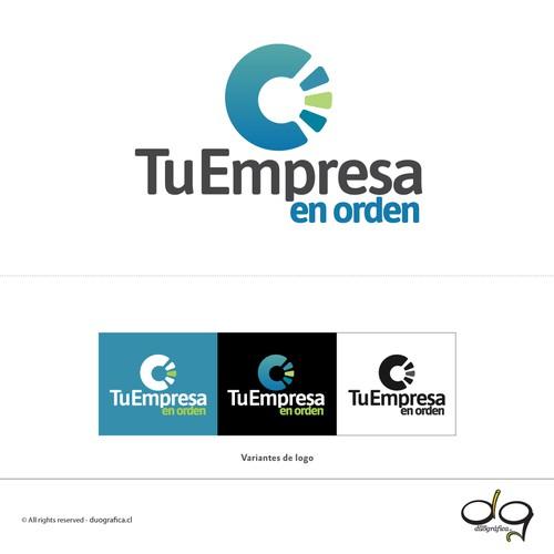 Compact and modern logo