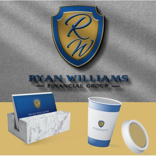 Ryan William logo & Business Card design