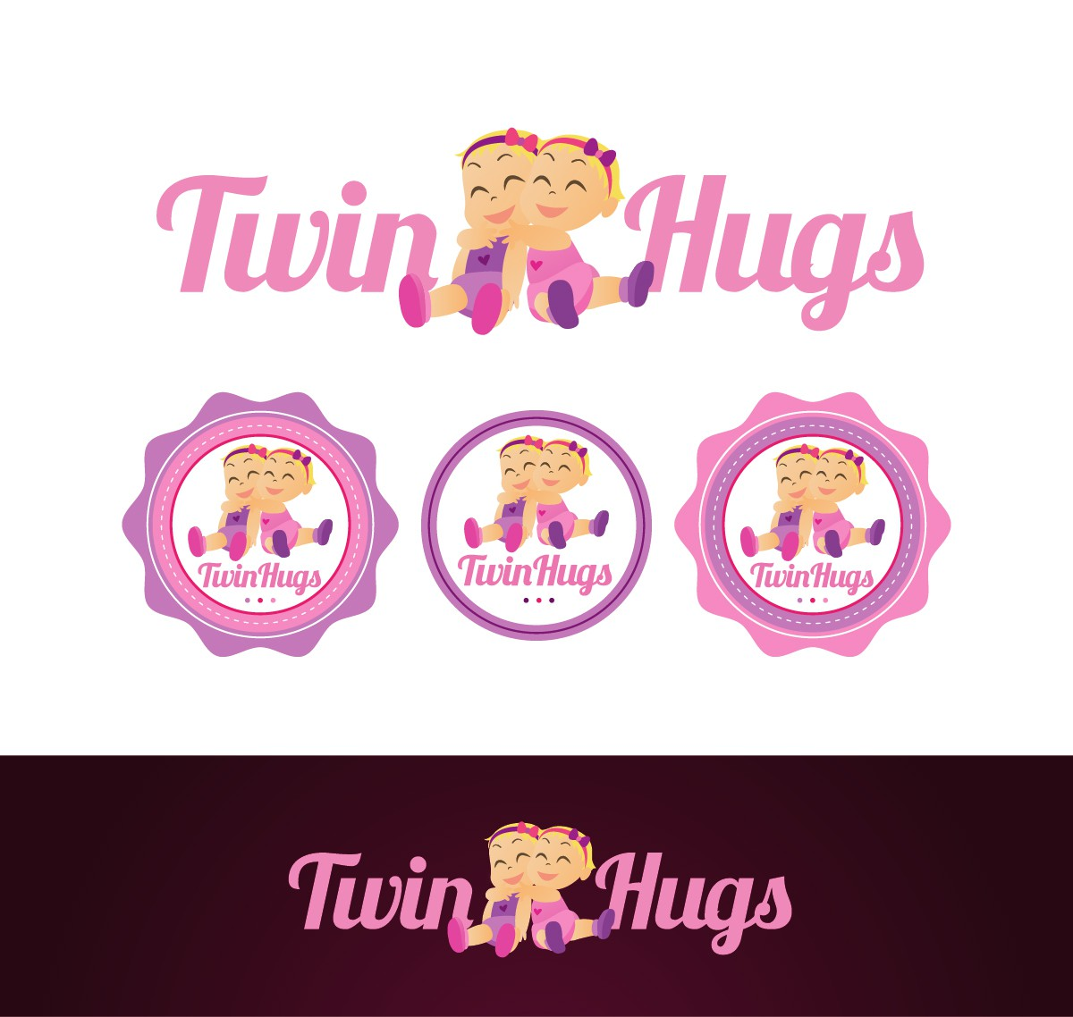 Chance to create CUTE Twin Logo!  Can't get cuter than twins!