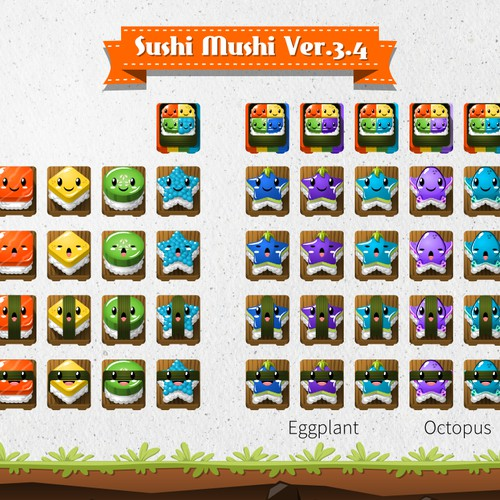 Sushi Mushi Puzzle design