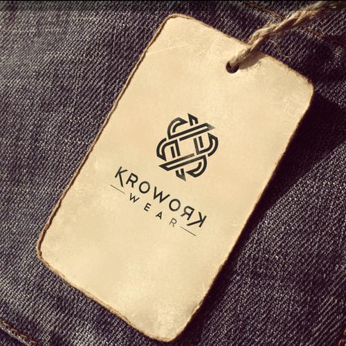Erstellt ein einprägendes junges Label für Berufsbekleidung. Create a young workwear label