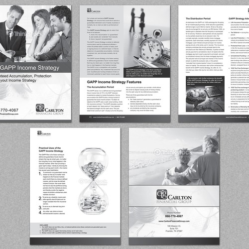 Design the best booklet in the financial services market!