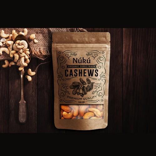 Organic Cashews Labeldesign