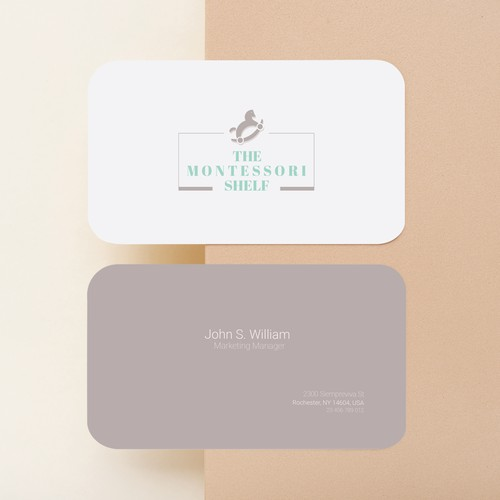 Playful Pastel Logo and Socials for Montessori Toy Brand