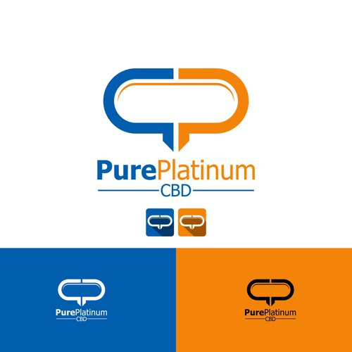 Logo for the hottest new health product on the market Pure Platinum CBD