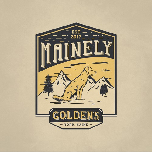 Logo for Mainely Goldens