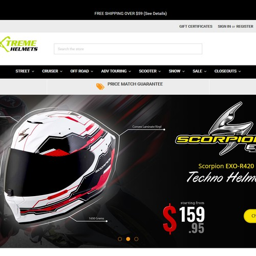 Banner Design for Xtreme Helmets.