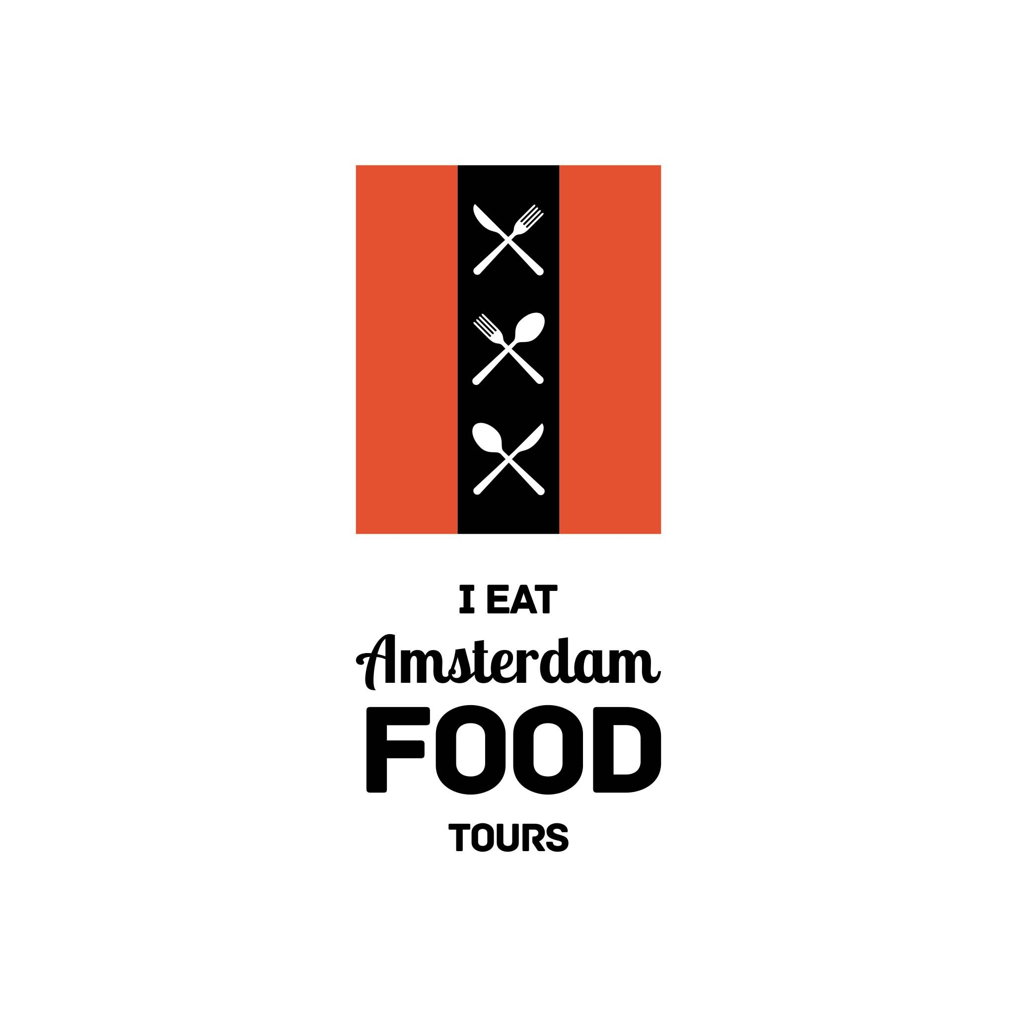 Create a logo that will stimulate the taste buds as well as the eye for I Eat Amsterdam food tours.