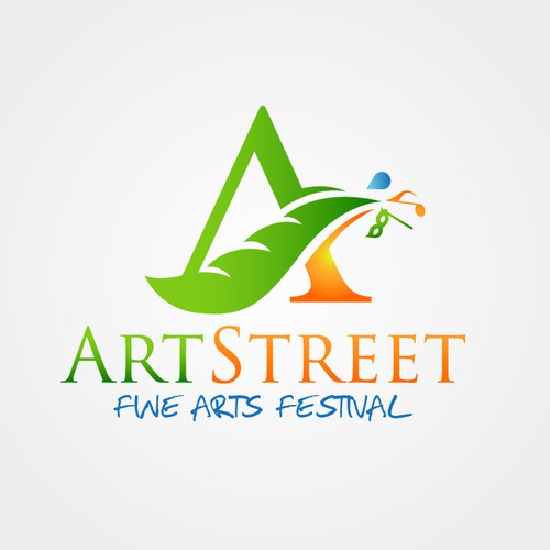 Strong creative arts logo concept
