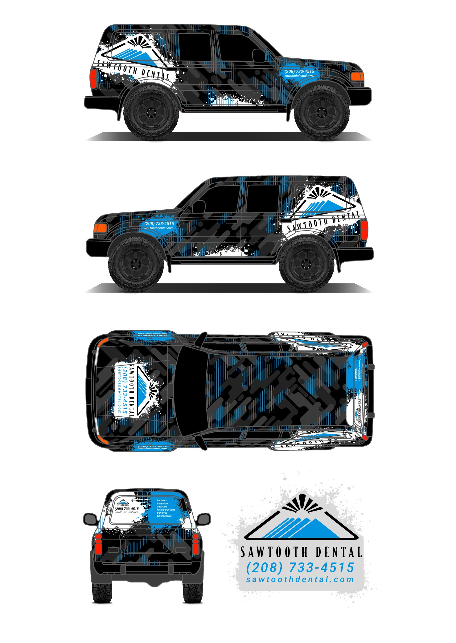 Design a car wrap for the dental office you'll want to go to!
