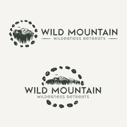 Logo and Website for Wild Mountain Retreats