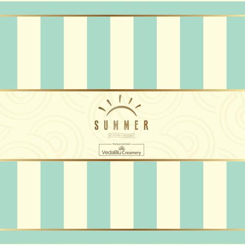 Summer ice-cream cart cover