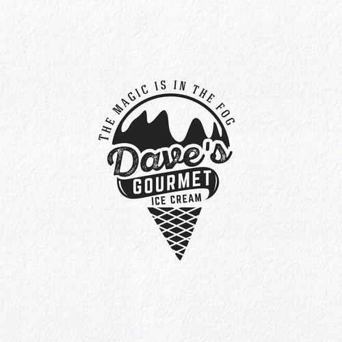 Design a creative and elegant logo for a New Organic Ice Cream
