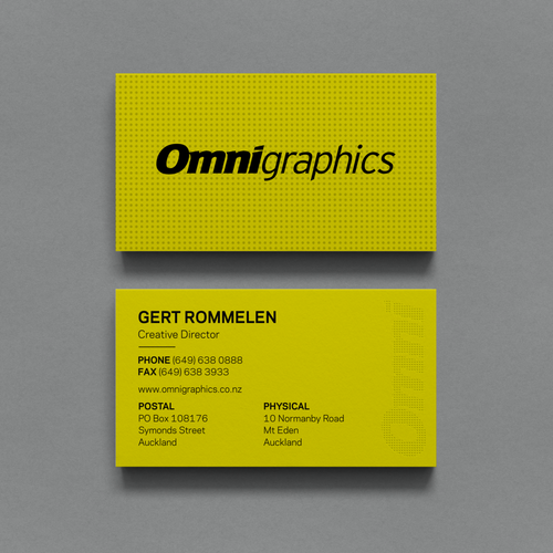 Business card for grand format digital print company