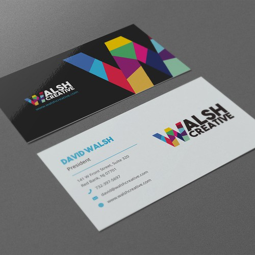Clean and modern business card design