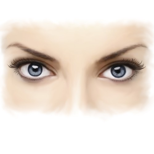 Create a series of 3 illustrations of individual facial features to be used for product branding.