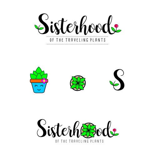 Playfull Logo For Sisterhood Of The Traveling Plants
