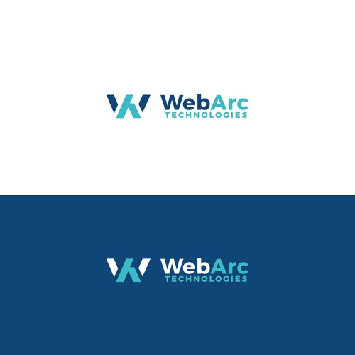 Icon and lettering logo WebArc Technologies