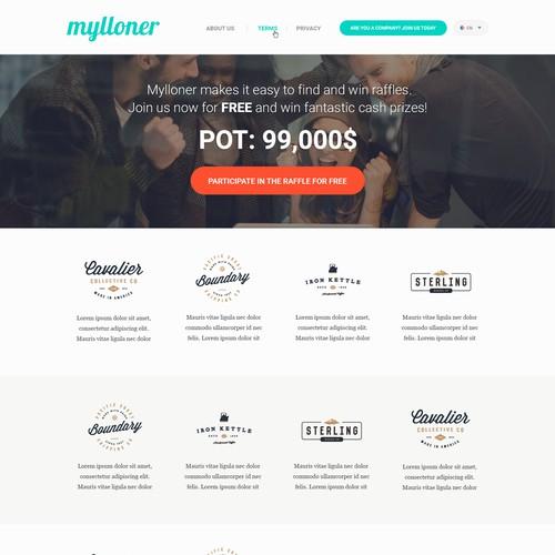 Web design for new Raffle / Lottery website
