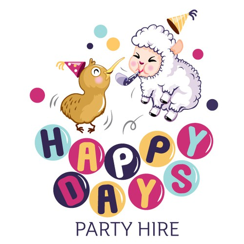 We need a fun but simple and eye-catching logo for our kid's party rental business