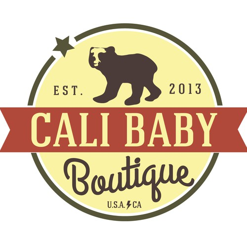 Help Cali Baby Boutique Design a new Logo for their Wesite, Mobile Boutique, and Merchadise