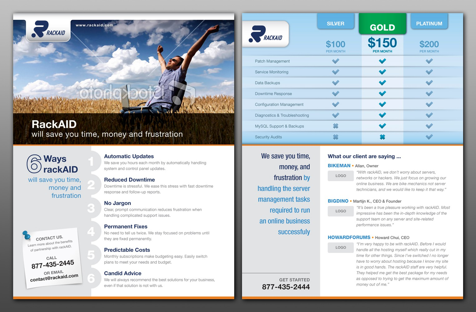 Design Simple Sales Brochure with Pricing Table