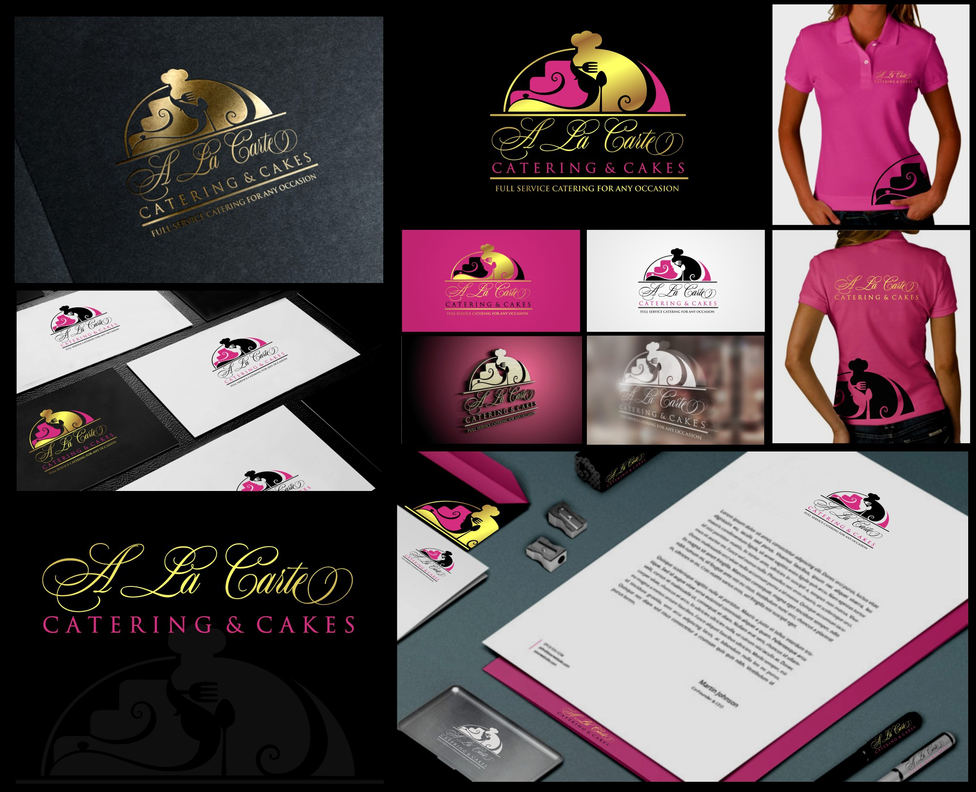 Create a winning logo design for Catering and Cakes Company.