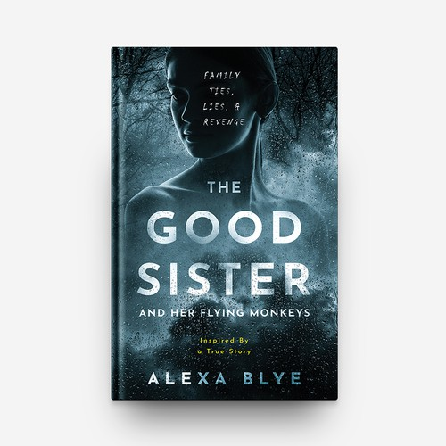 """The Good Sister and Her Flying Monkey"" Book Cover Design"