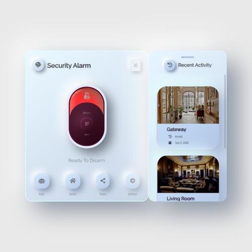 Security Alarm Widget
