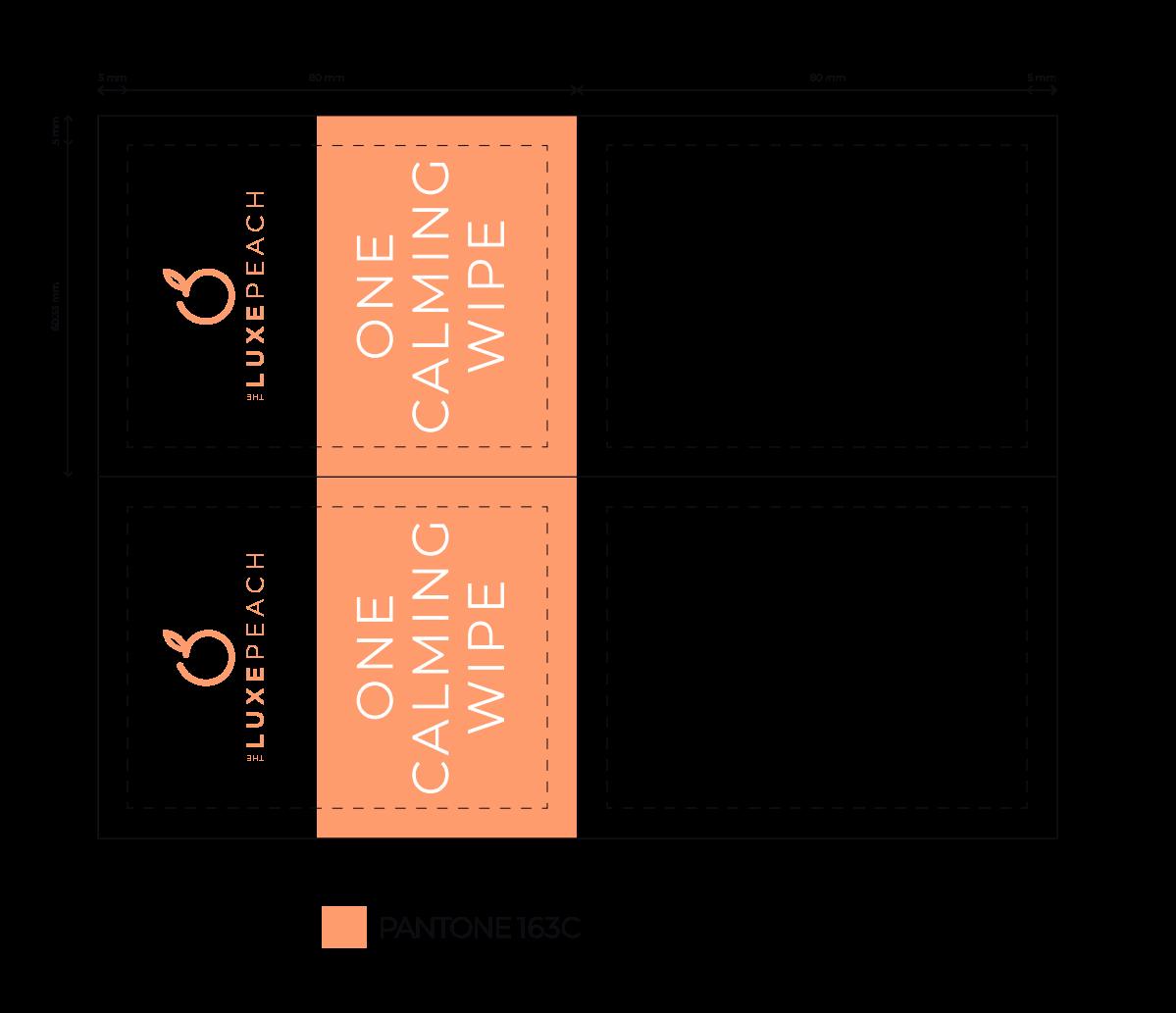 The Luxe Peach Body Wax Kit - Wipe Design
