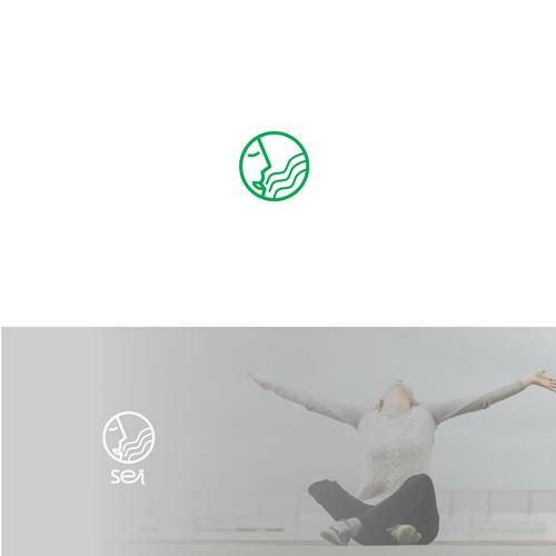 Logo for breathing wellness app