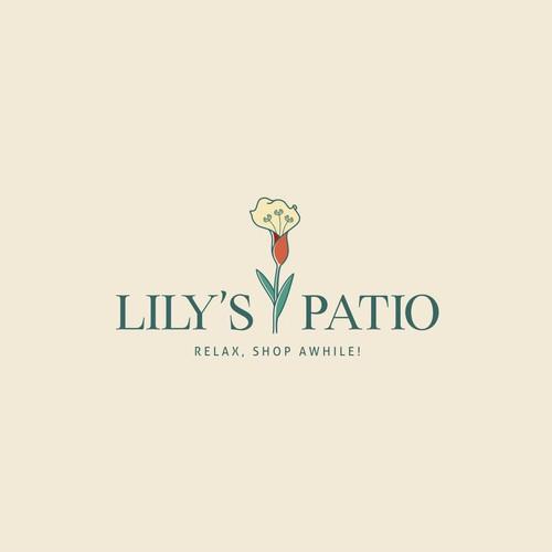 Lily's Patio Logo design concept