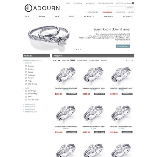 website design for Adourn
