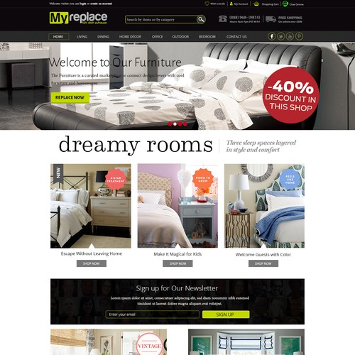 Make a Website for furniture to  rent
